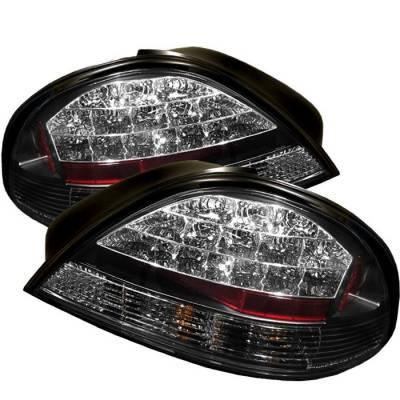 Headlights & Tail Lights - Tail Lights - Spyder - Pontiac Grand Am Spyder LED Taillights - Black - 111-PGAM99-LED-BK