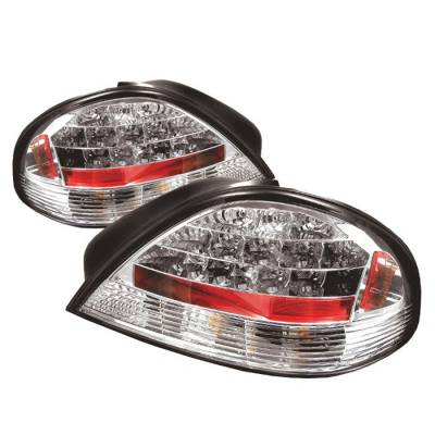 Headlights & Tail Lights - Tail Lights - Spyder - Pontiac Grand Am Spyder LED Taillights - Chrome - 111-PGAM99-LED-C