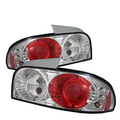 Headlights & Tail Lights - Tail Lights - Spyder - Subaru Impreza Spyder Euro Style Taillights - Chrome - 111-SI93-C