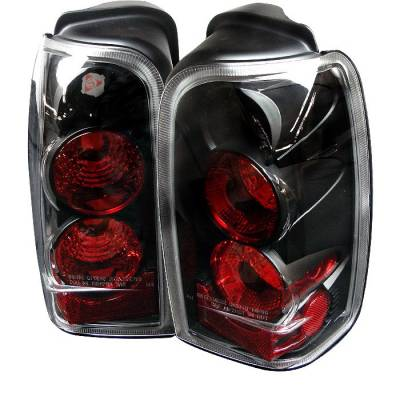 Headlights & Tail Lights - Tail Lights - Spyder - Toyota 4Runner Spyder Euro Style Taillights - Black - 111-T4R96-BK