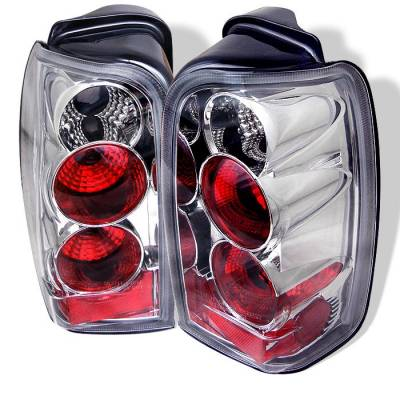Headlights & Tail Lights - Tail Lights - Spyder - Toyota 4Runner Spyder Euro Style Taillights - Chrome - 111-T4R96-C