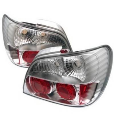 Headlights & Tail Lights - Tail Lights - Spyder Auto - Subaru WRX Spyder Altezza Taillights - Chrome - 111-TC03-LED-BK