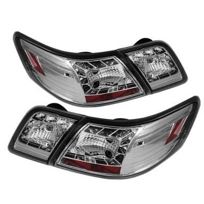 Headlights & Tail Lights - Tail Lights - Spyder - Toyota Camry Spyder LED Taillights - Chrome - 111-TCAM07-LED-C
