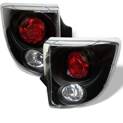 Headlights & Tail Lights - Tail Lights - Spyder - Toyota Celica Spyder Euro Style Taillights - Black - 111-TCEL00-BK