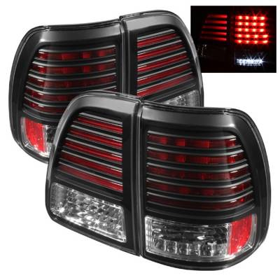 Headlights & Tail Lights - Tail Lights - Spyder - Toyota Land Cruiser Spyder LED Taillights - Black - 111-TLAN98-LED-BK