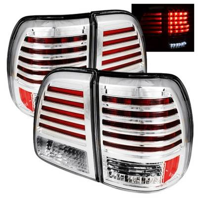 Headlights & Tail Lights - Tail Lights - Spyder - Toyota Land Cruiser Spyder LED Taillights - Chrome - 111-TLAN98-LED-C