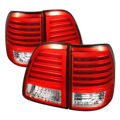 Headlights & Tail Lights - Tail Lights - Spyder - Toyota Land Cruiser Spyder LED Taillights - Red Clear - 111-TLAN98-LED-RC
