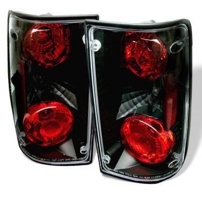 Headlights & Tail Lights - Tail Lights - Spyder - Toyota Pickup Spyder Euro Style Taillights - Black - 111-TP89-BK