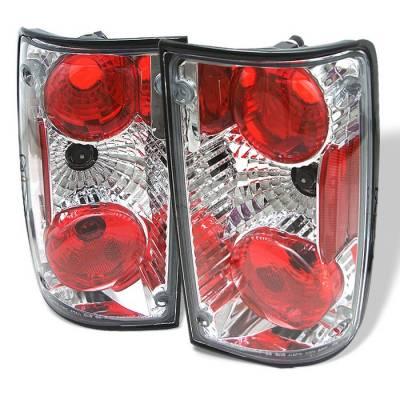 Headlights & Tail Lights - Tail Lights - Spyder - Toyota Pickup Spyder Euro Style Taillights - Chrome - 111-TP89-C
