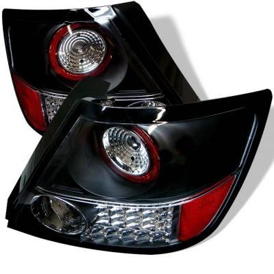 Headlights & Tail Lights - Tail Lights - Spyder - Scion tC Spyder LED Taillights - Black - 111-TSTC04-LED-BK