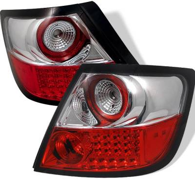 Headlights & Tail Lights - Tail Lights - Spyder - Scion tC Spyder LED Taillights - Red Clear - 111-TSTC04-LED-RC