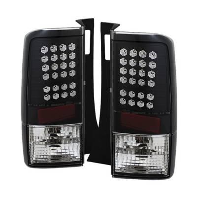 Headlights & Tail Lights - Tail Lights - Spyder - Scion xB Spyder LED Taillights - Black - 111-TSXB03-LED-BK