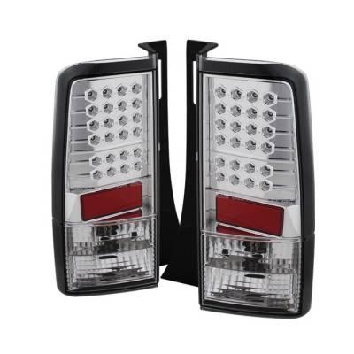 Headlights & Tail Lights - Tail Lights - Spyder - Scion xB Spyder LED Taillights - Chrome - 111-TSXB03-LED-C