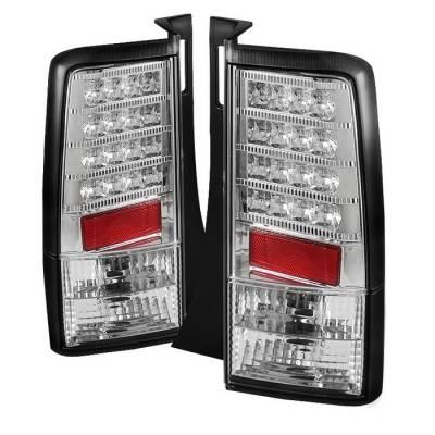 Headlights & Tail Lights - Tail Lights - Spyder - Scion xB Spyder Version 2 LED Taillights - Chrome - 111-TSXB03-LED-V2-C