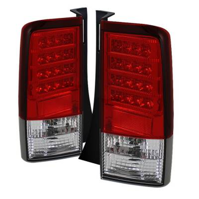 Headlights & Tail Lights - Tail Lights - Spyder - Scion xB Spyder Version 2 LED Taillights - Red Clear - 111-TSXB03-LED-V2-RC