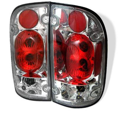 Headlights & Tail Lights - Tail Lights - Spyder - Toyota Tacoma Spyder Euro Style Taillights - Chrome - 111-TT01-C