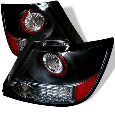 Headlights & Tail Lights - Tail Lights - Spyder Auto - Scion tC Spyder LED Taillights - Black - 111-TT01-LED-RC