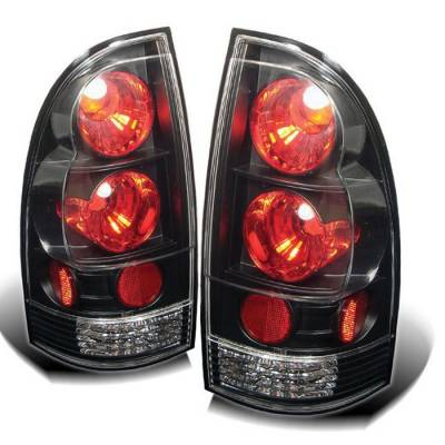 Headlights & Tail Lights - Tail Lights - Spyder - Toyota Tacoma Spyder Euro Style Taillights - Black - 111-TT05-BK