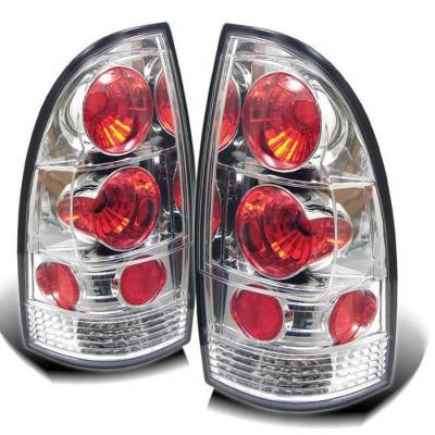 Headlights & Tail Lights - Tail Lights - Spyder - Toyota Tacoma Spyder Euro Style Taillights - Chrome - 111-TT05-C