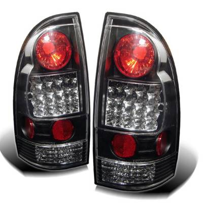 Headlights & Tail Lights - Tail Lights - Spyder - Toyota Tacoma Spyder LED Taillights - Black - 111-TT05-LED-BK