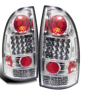 Headlights & Tail Lights - Tail Lights - Spyder - Toyota Tacoma Spyder LED Taillights - Chrome - 111-TT05-LED-C