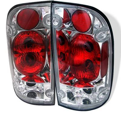 Headlights & Tail Lights - Tail Lights - Spyder - Toyota Tacoma Spyder Euro Style Taillights - Chrome - 111-TT95-C