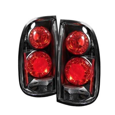 Headlights & Tail Lights - Tail Lights - Spyder - Toyota Tundra Spyder Euro Style Taillights - Black - 111-TTRA00-BK