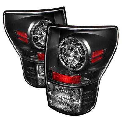 Headlights & Tail Lights - Tail Lights - Spyder - Toyota Tundra Spyder LED Taillights - Black - 111-TTU07-LED-BK