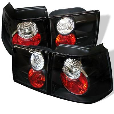 Headlights & Tail Lights - Tail Lights - Spyder - Volkswagen Corrado Spyder Euro Style Taillights - Black - 111-VC95-BK