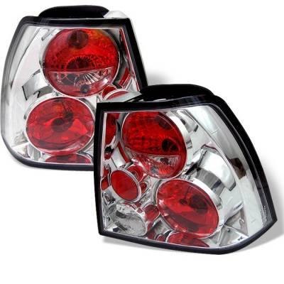 Headlights & Tail Lights - Tail Lights - Spyder - Volkswagen Jetta Spyder Euro Style Taillights - Chrome - 111-VJ99-C