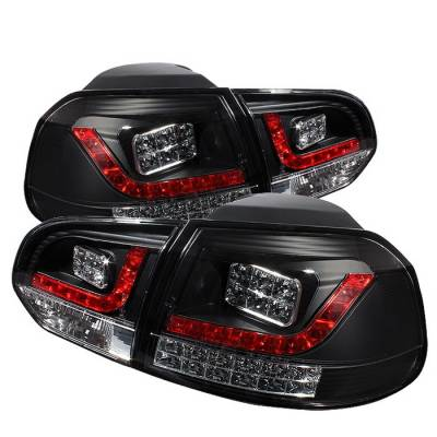 Headlights & Tail Lights - Tail Lights - Spyder Auto - Volkswagen Golf GTI Spyder LED Taillights - Black - 111-VJ99-SM