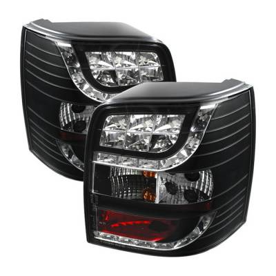 Headlights & Tail Lights - Tail Lights - Spyder. - Volkswagen Passat Spyder LED Taillights - Black - 111-VWPAT01-5D-LED-BK