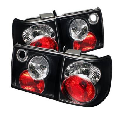 Headlights & Tail Lights - Tail Lights - Spyder - Volkswagen Passat Spyder Euro Style Taillights - Black - 111-VWPAT93-BK