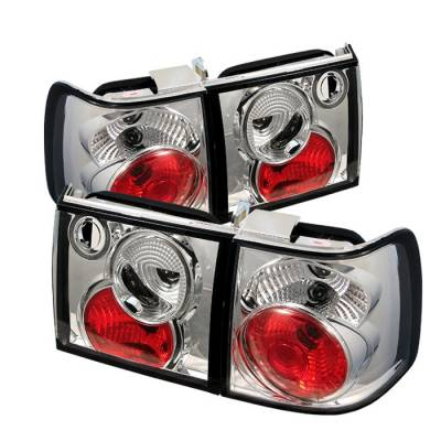 Headlights & Tail Lights - Tail Lights - Spyder - Volkswagen Passat Spyder Euro Style Taillights - Chrome - 111-VWPAT93-C