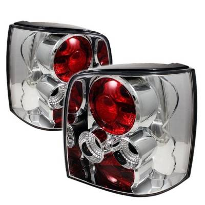 Headlights & Tail Lights - Tail Lights - Spyder - Volkswagen Passat Spyder Euro Style Taillights - Chrome - 111-VWPAT97-5D-C