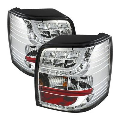 Headlights & Tail Lights - Tail Lights - Spyder - Volkswagen Passat Spyder LED Taillights - Chrome - 111-VWPAT97-5D-LED-C