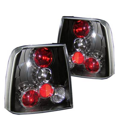 Headlights & Tail Lights - Tail Lights - Spyder - Volkswagen Passat Spyder Euro Style Taillights - Black - 111-VWPAT97-BK