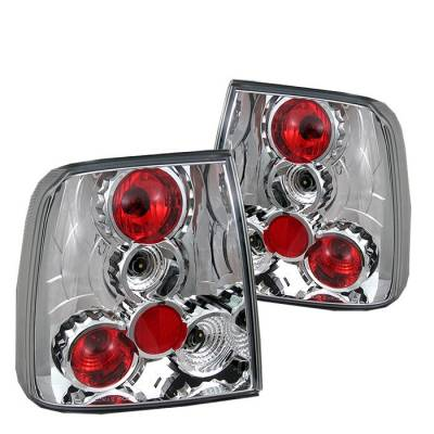 Headlights & Tail Lights - Tail Lights - Spyder - Volkswagen Passat Spyder Euro Style Taillights - Chrome - 111-VWPAT97-C