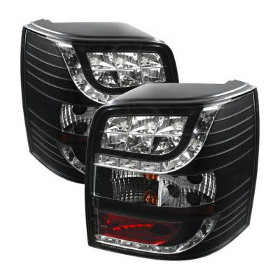 Headlights & Tail Lights - Tail Lights - Spyder Auto - Volkswagen Passat Spyder LED Light Bar Taillights - Black - 444-AA495-HL-BK