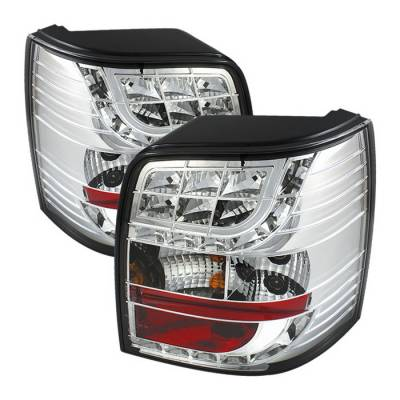 Headlights & Tail Lights - Tail Lights - Spyder Auto - Volkswagen Passat Spyder LED Light Bar Taillights - Chrome - 444-AA495-HL-C