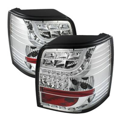 Headlights & Tail Lights - Tail Lights - Spyder Auto - Volkswagen Passat Spyder LED Taillights - Chrome - 444-ADA601-DRL-BK