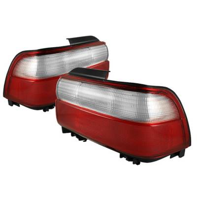 Spyder - Toyota Corolla Spyder Taillights - Red Clear - ALT-CH-TC93-RC - Image 1