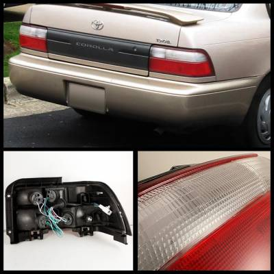 Spyder - Toyota Corolla Spyder Taillights - Red Clear - ALT-CH-TC93-RC - Image 2