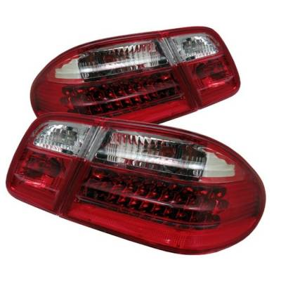 Headlights & Tail Lights - Tail Lights - Spyder - Mercedes-Benz E Class Spyder LED Taillights - Red Clear - ALT-CL-MBW210-LED-RC