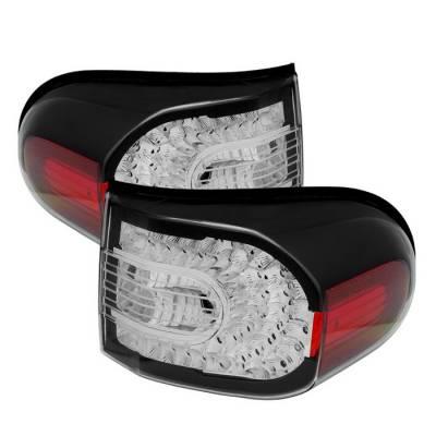 Headlights & Tail Lights - Tail Lights - Spyder - Toyota FJ Cruiser Spyder LED Taillights - Black - ALT-CL-TFJ07-LED-BK