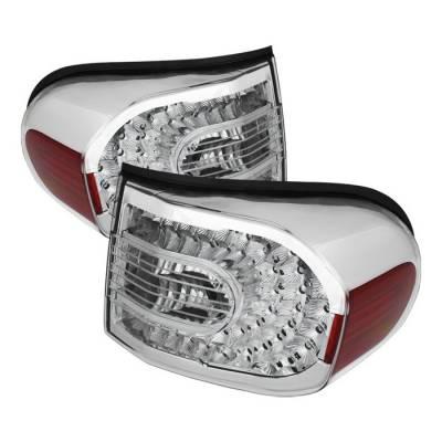 Headlights & Tail Lights - Tail Lights - Spyder - Toyota FJ Cruiser Spyder LED Taillights - Clear - ALT-CL-TFJ07-LED-C