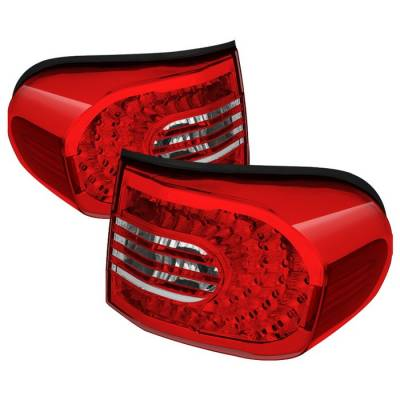 Headlights & Tail Lights - Tail Lights - Spyder - Toyota FJ Cruiser Spyder LED Taillights - Red & Clear - ALT-CL-TFJ07-LED-RC
