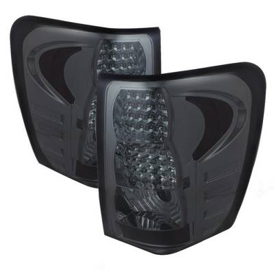 Headlights & Tail Lights - Tail Lights - Spyder - Jeep Grand Cherokee Spyder LED Taillights - Smoke - ALT-JH-JGC99-LED-SM