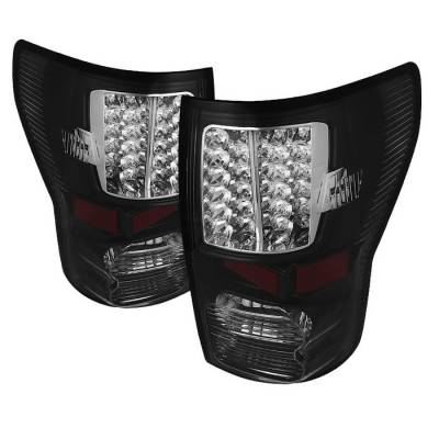 Headlights & Tail Lights - Tail Lights - Spyder - Toyota Tundra Spyder LED Taillights - Black - ALT-JH-TTU07-LED-BK