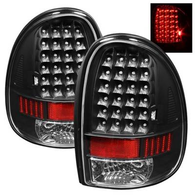 Headlights & Tail Lights - Tail Lights - Spyder - Dodge Grand Caravan Spyder LED Taillights - Black - ALT-ON-DC96-LED-BK